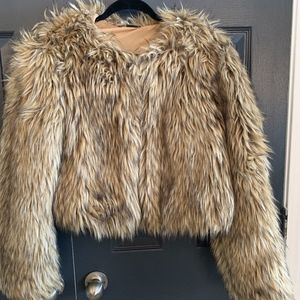 Sparkle & Fade - Faux Fur Coat - Size Medium